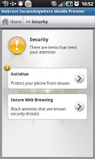 SecureAnywhere Antivírus - screenshot thumbnail