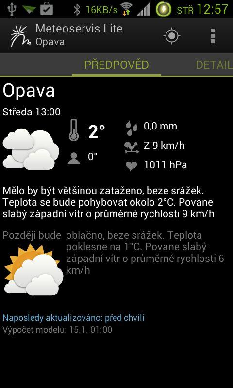 Meteoservis Lite - screenshot