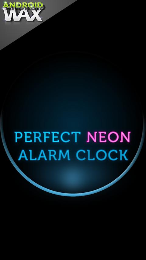 ★ Perfect Neon Alarm Clock - screenshot
