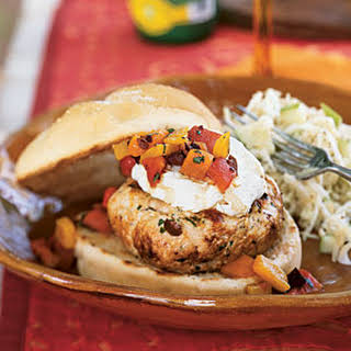 Turkey Burgers with Goat Cheese.
