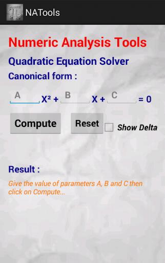 Numerical Analysis Tools