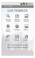 Screenshot of LDS Temples
