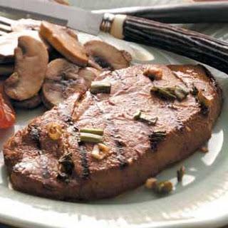 Marinated Sirloin Steaks.