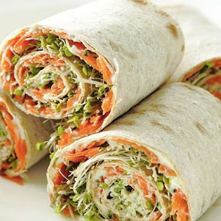 Veggie Lavash Healthy Snack Rolls.