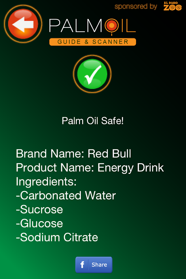 Palm Oil Guide and Scanner - screenshot