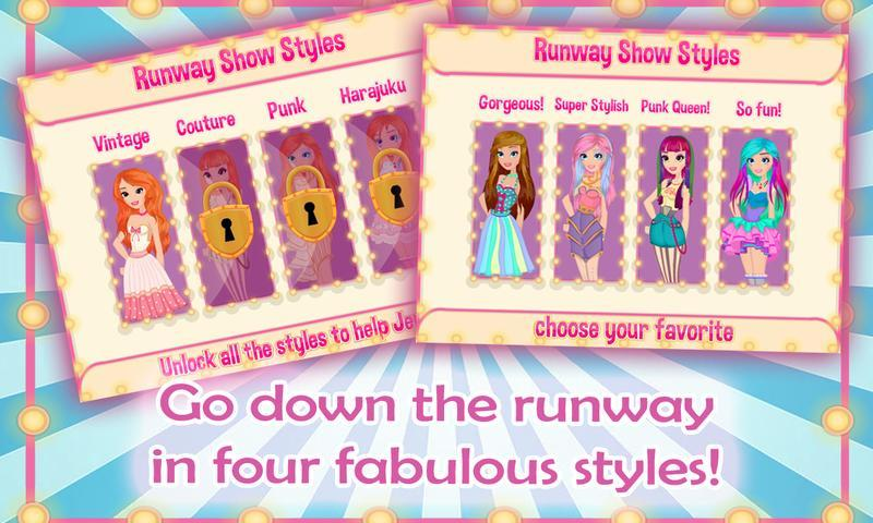 Runway Beauty Secrets Dress Up- screenshot