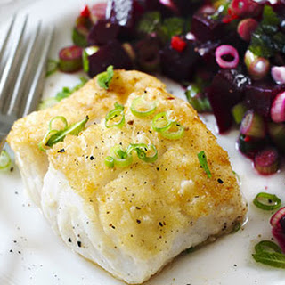 Pan-fried Fish with Beetroot Salsa