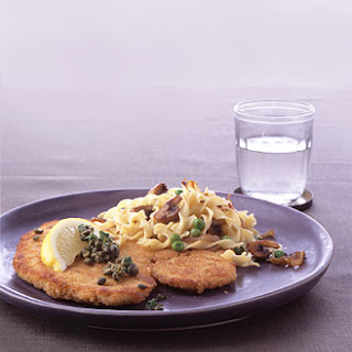 Chicken Schnitzel with Capers and Parsley.