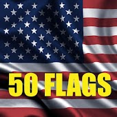 50 United States Flags
