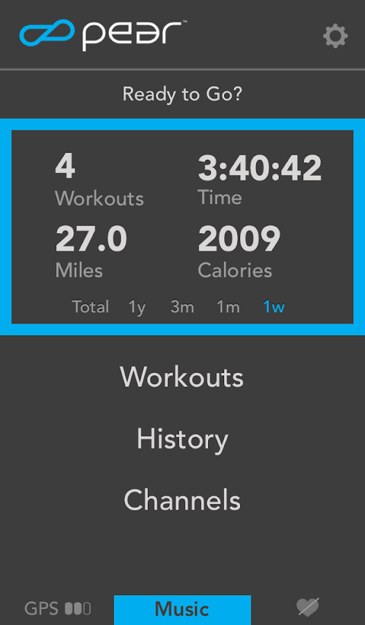 PEAR Sports run workout coach - screenshot