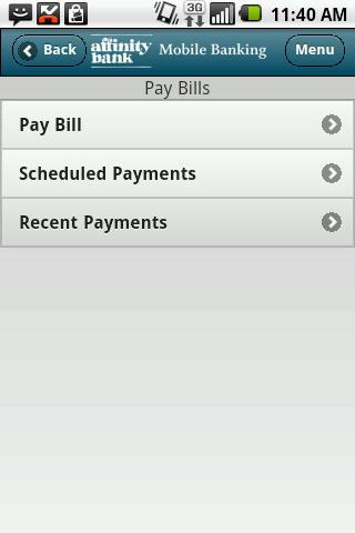 Affinity Bank Mobile Banking - screenshot