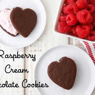 Raspberry Cream Chocolate Cookies