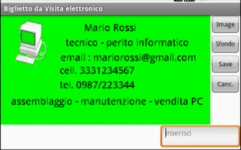 "Biglietto da Visita ""DIGITALE"" screenshot 0"