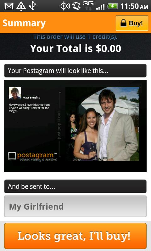 Postagram Postcards - screenshot
