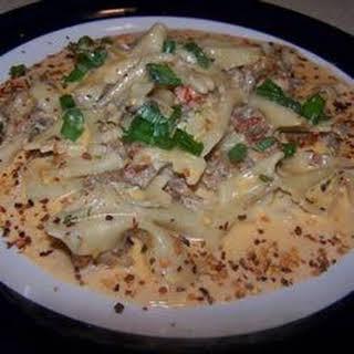 Richard and Suzanne's Louisiana Crawfish Pasta.