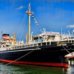 Hakiwamaru by Lenny Sharp - Transportation Boats ( japan, cruise ship, ship, hakiwamaru, yokohama )