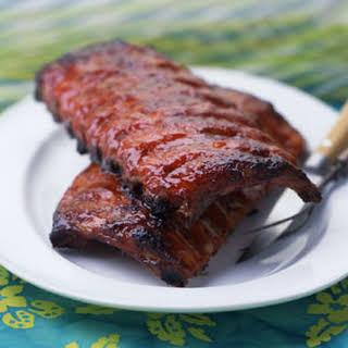 "Chinese-Hawaiian ""Barbecued"" Ribs."