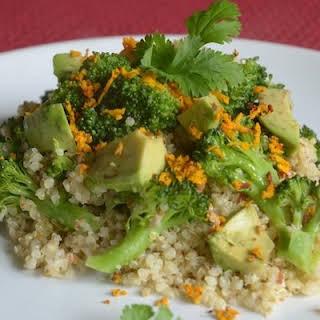 Quinoa & Broccoli Salad With Almonds.