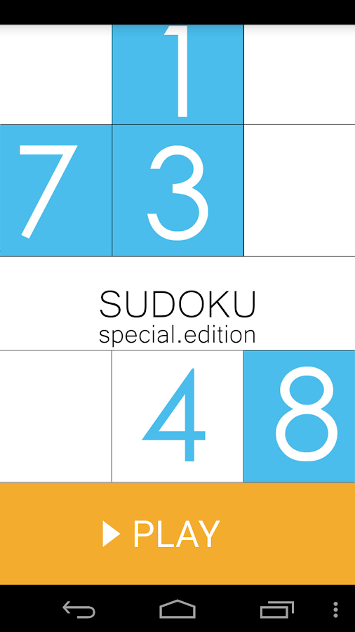 Sudoku (old version) - screenshot