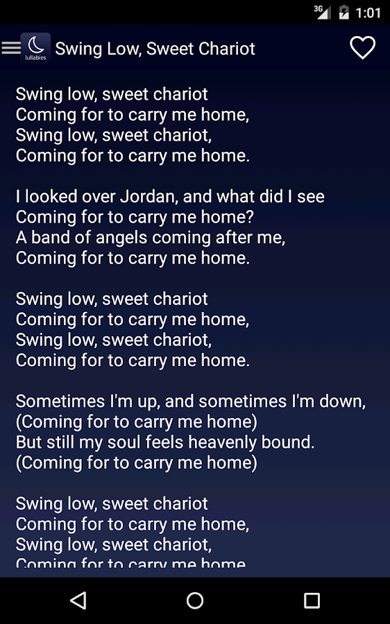 Lyric in sweet by and by lyrics : Lullaby Lyrics - Android Apps on Google Play