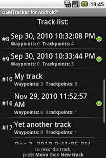OSMTracker for Android™- screenshot thumbnail