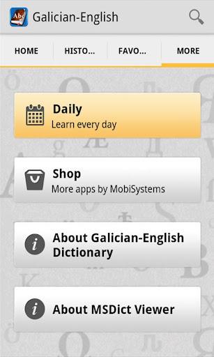 GalicianEnglish Dictionary