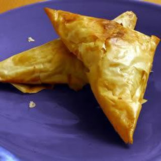 Brie and Mushroom Filo Parcels