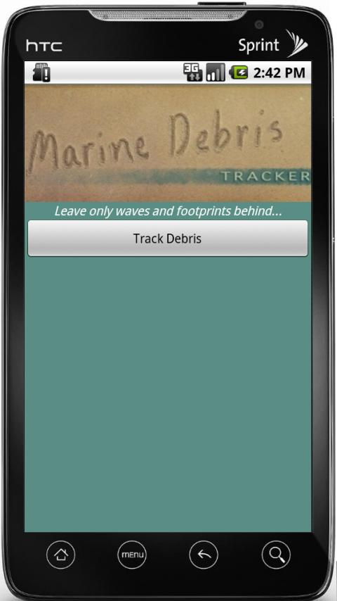 Marine Debris Tracker - screenshot