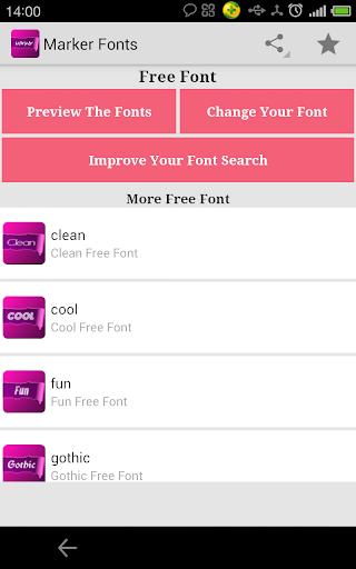Free Marker fonts for FlipFont