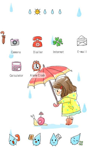 CUKI Theme Rainy Day Girl