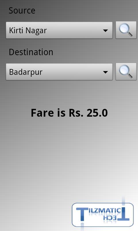 Delhi Metro Navigator - screenshot