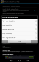 Screenshot of Whistle Android Finder FREE