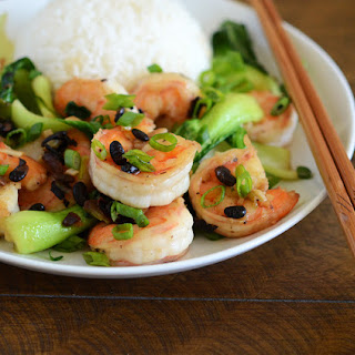 Chinese Shrimp with Black Bean Sauce.