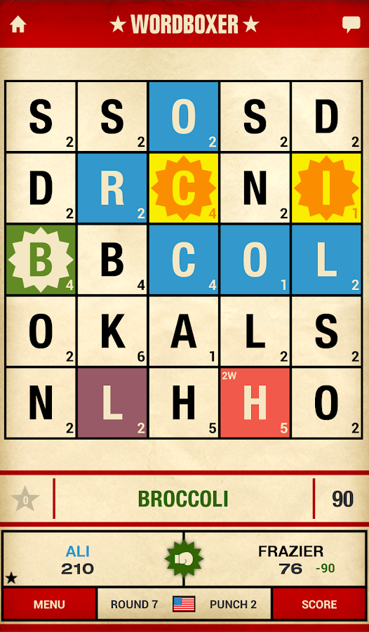 WordBoxer: Knockout Word Game - screenshot