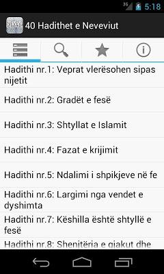 40 Hadithet e Neveviut - screenshot