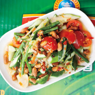 Long Bean, Cucumber, and Tomato Salad.