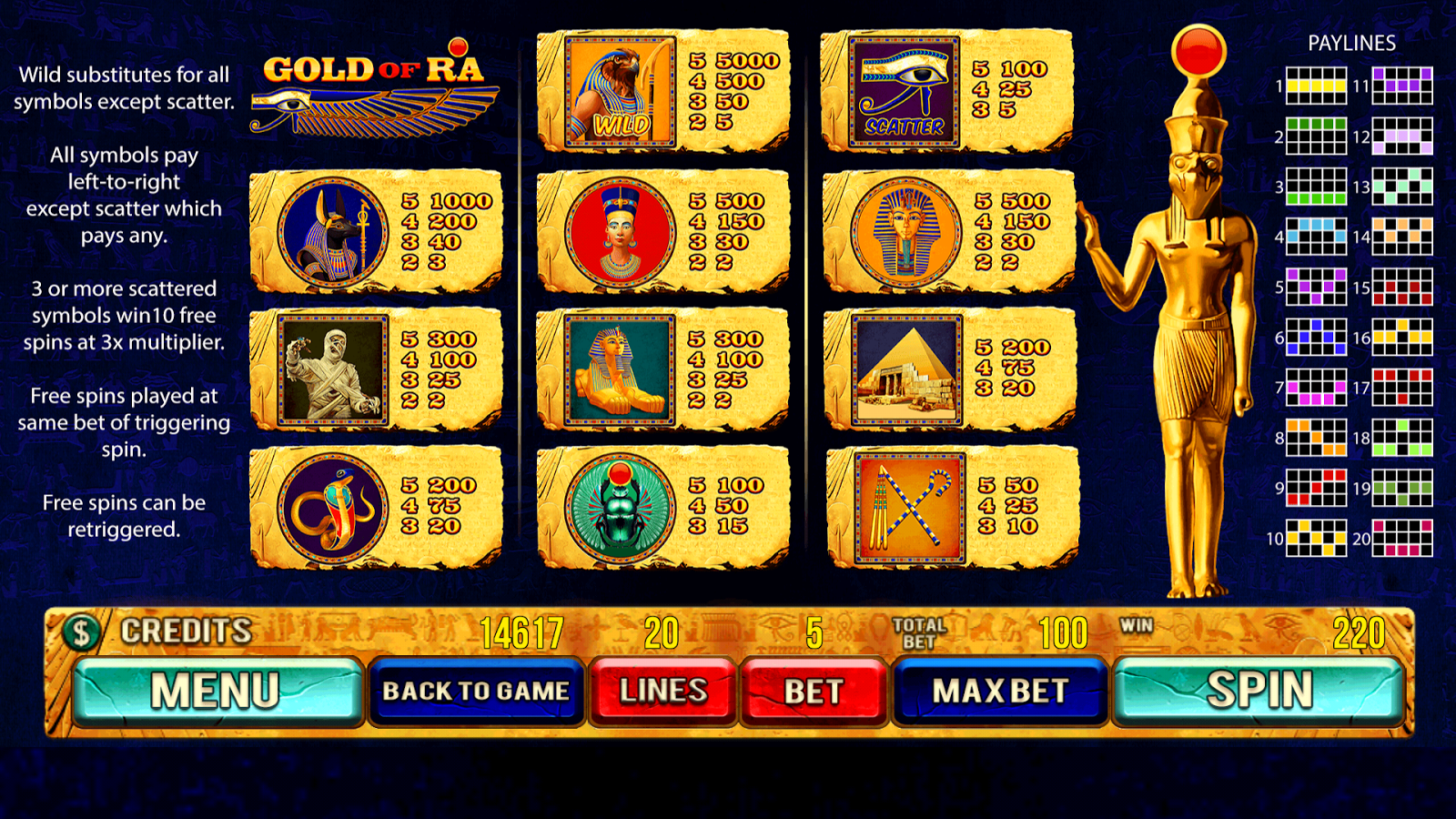 Pyramid of Gold Slot Machine - Play for Free & Win for Real