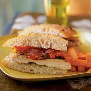 Chicken Focaccia Sandwiches.