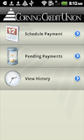 Screenshot of Corning Credit Union