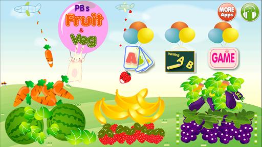 ABC Fruit Veg Flashcard Write