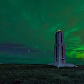 Dream of a Lighthouse by Guðmundur Hjörtur - Landscapes Starscapes