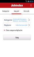 Screenshot of Jobindex Job App