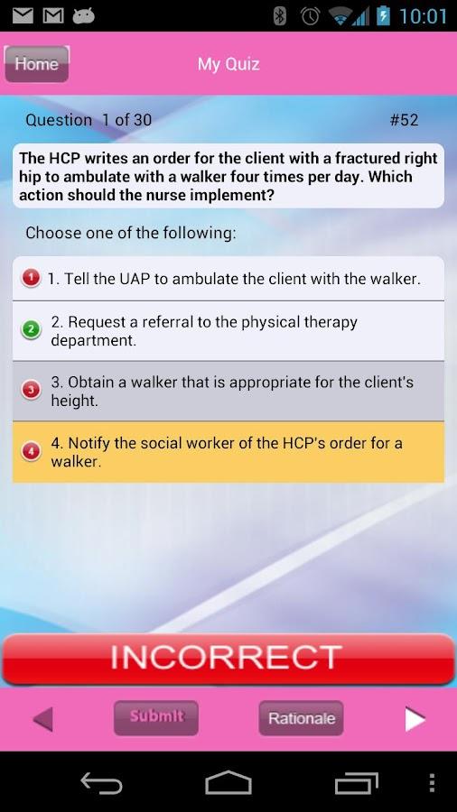 NCLEX-RN Prioritization - screenshot