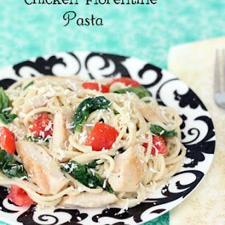 Grilled Chicken Florentine Spaghetti