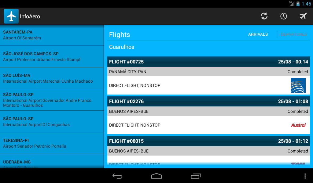 InfoAero - screenshot