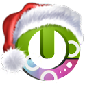 Santa on the way free theme logo
