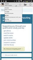 Screenshot of StudentHome (Open University)