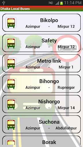 Dhaka Local Bus Route