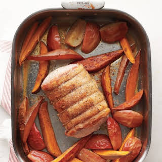 Pork Roast with Apples and Sweet Potatoes.