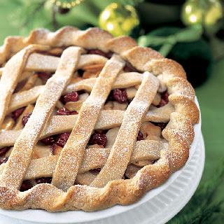 Apple and Dried-Cherry Lattice Pie